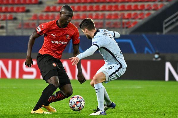 Sehrou Guirassy, ici lors du match contre Chelsea le 24 novembre dernier, ne jouera pas contre Krasnodar à cause d'une blessure.