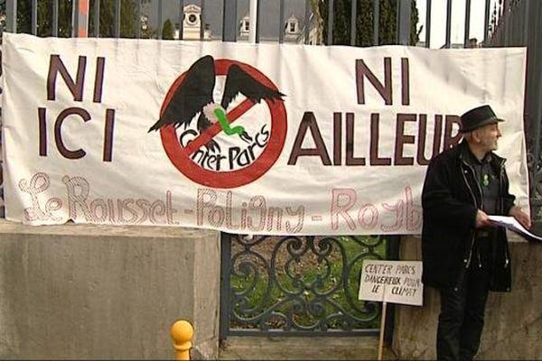 A Mâcon, les opposants aux projets de Center Parcs étaient rassemblés.