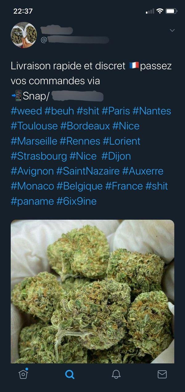 Désormais à Toulouse, il suffit d'aller sur les réseaux sociaux afin de se faire livrer à domicile des stupéfiants comme le cannabis.