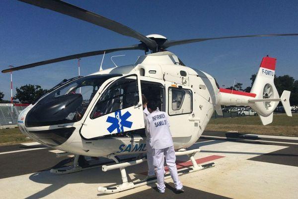 Hélicoptère du Samu 35