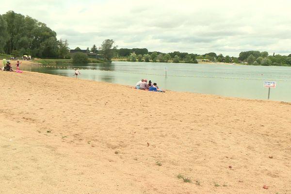 Plage de Chalette-sur-Loing dans le Loiret labellisée Pavillon bleu 2020