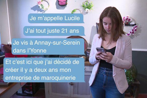 Dans l'Yonne, rencontre avec Lucile, une jeune maroquinière de 21 ans.