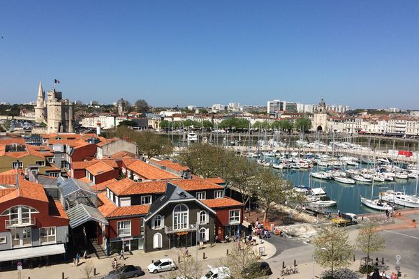 Le quartier du Gabut à La Rochelle depuis la grande roue.