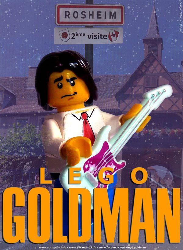 L'une des affiches de Lego Goldman en concert à Rosheim, dans le Bas-Rhin.