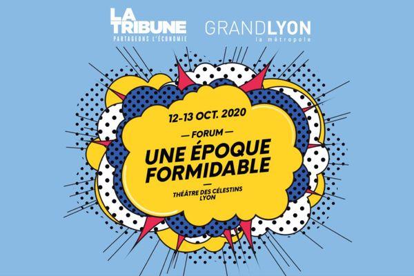 """Affiche forum """"Une époque formidable"""" 2020 les 12 et 13 octobre au Théâtre des Célestins à Lyon"""