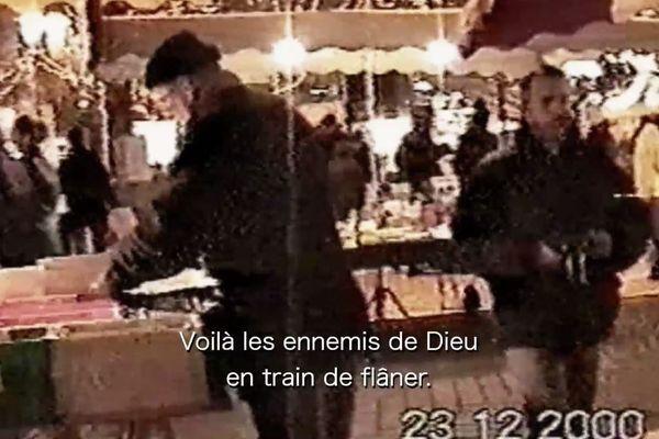 Images tournées par deux terroristes en repérage sur le marché de Noël de Strasbourg, le 23 décembre 2000.