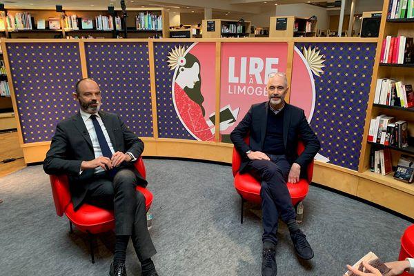 """Edouard Philippe et son ex-conseiller spécial à Matignon Gilles Boyer ont présenté leur livre à """"Lire à Limoges""""."""