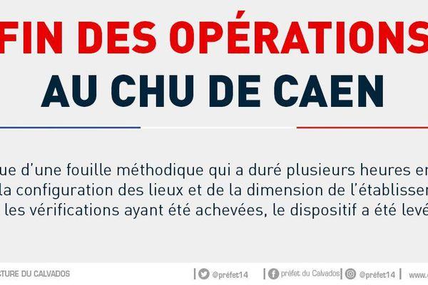 La fin des opération annoncée au CHU de Caen.