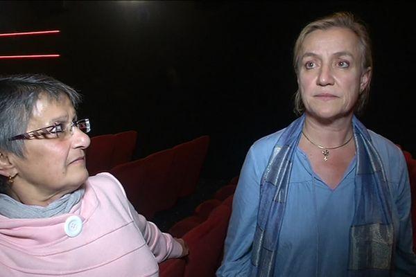 """Ceferina Cordoba et Irène Frachon lors de l'avant première du film """"La fille de Brest"""""""