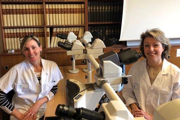 Le Dr Cardot-Leccia (à gauche) et le Dr Burel-Vandenbos.