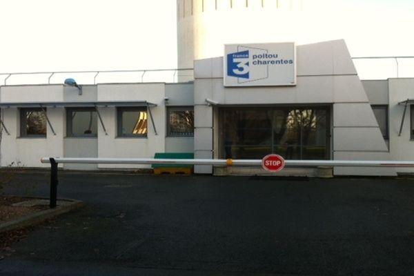 L'entrée de la station de France 3 Poitou Charentes