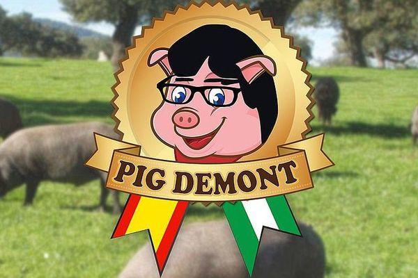 Publicité pour le jambon - Pig Demont.