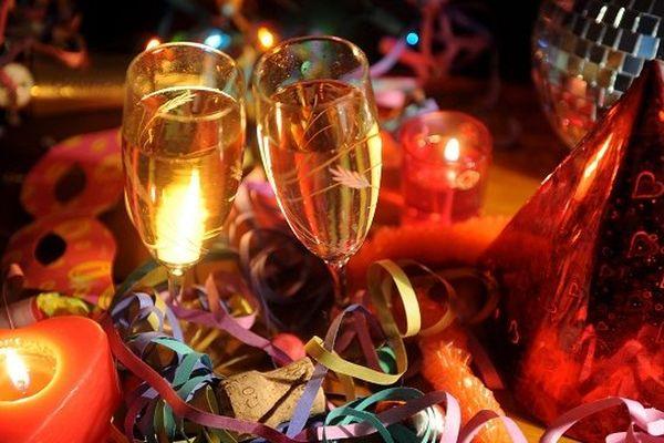 Champagne et cotillons