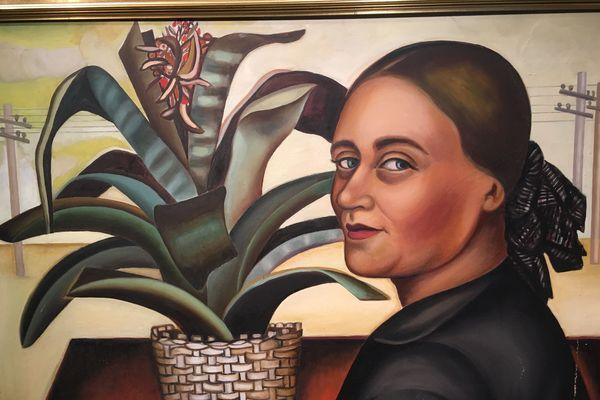 Autoportrait à la plante de Nadia Kodossiévitch-Léger (1956)