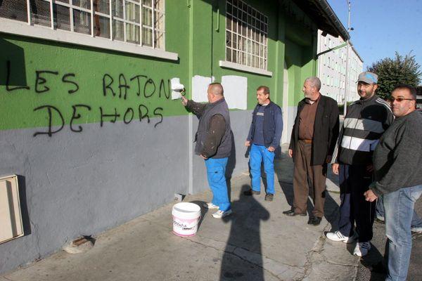 En Octobre 2009 des tags racistes et contre l'Islam avaient déjà dû être effacés sur les murs de la salle de prière de la rue Laubadère à Tarbes.