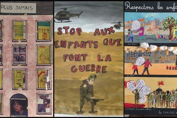 """Les trois affiches lauréates du concours """"une affiche pour les droits de l'enfant"""" 2018"""