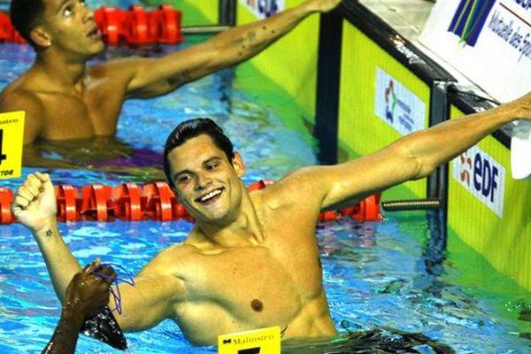 Florent Manaudou ce vendredi matin pour le 200 mètres nage libre de Montpellier