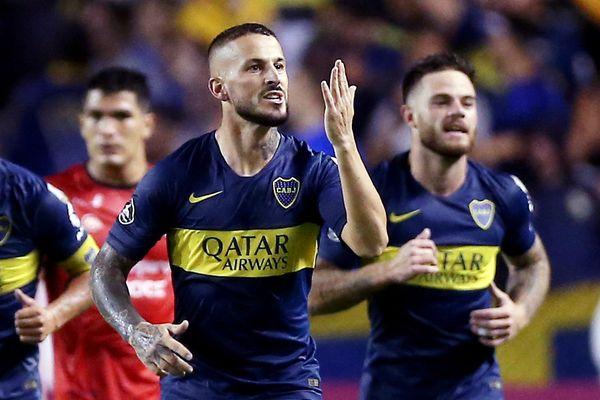 L'attaquant argentin sous les couleurs de Boca Juniors