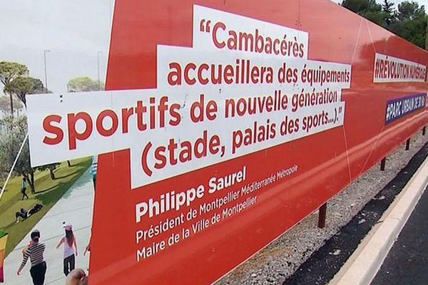 Montpellier - le futur quartier Cambacérès en plein travaux - 2019.