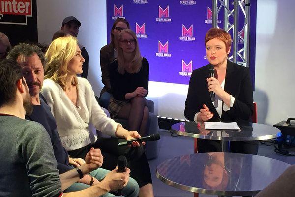"""Dans le Journal du Festival du lundi 25 mars, Christelle Massin recevait Julie Gayet et Bruno Debrandt, acteurs de la série""""Soupçons"""", diffusée sur France 3"""