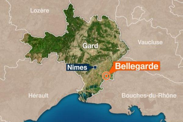 Bellegarde, dans le Gard.