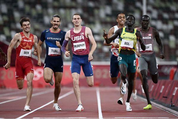 Le français Gabriel Tual, licencié à Talence en Gironde et étudiant à l'université de Bordeaux, se qualifie pour la finale du 800 m