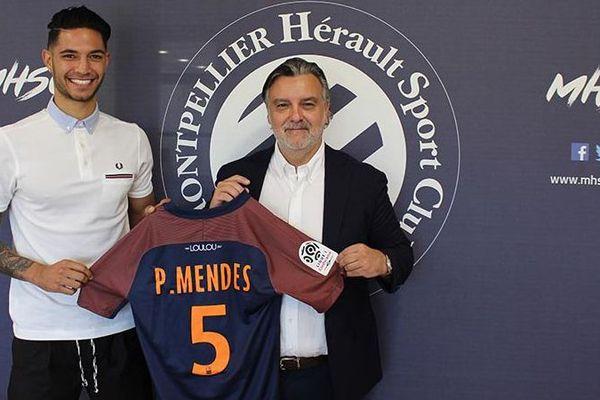 Montpellier - Pedro Mendes signe au MHSC - juillet 2017.