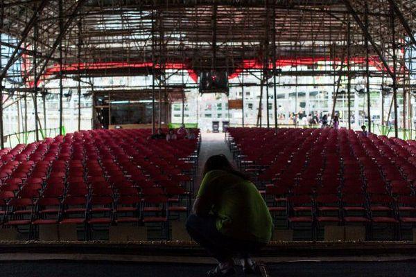 Scène et salle vides (photo d'illustration)