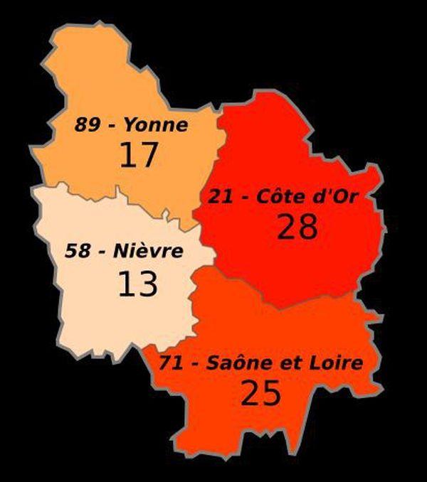 Les chiffres de la radicalisation en Bourgogne