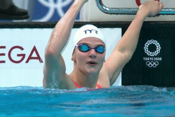 Marie Wattel peut exulter, elle est en finale du 100m papillon !