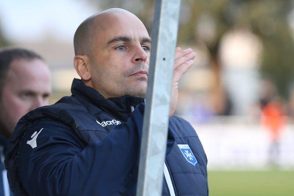 Jérémie Janot en 2018 à Auxerre où il entraînait les gardiens de but.