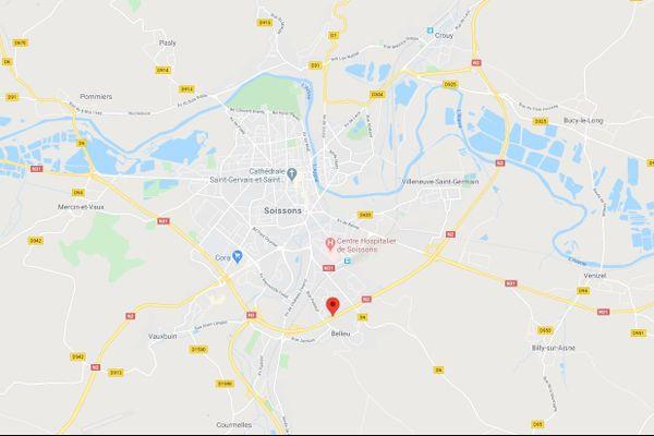 L'accident s'est produit sur la Nationale 2 à hauteur de Belleu.