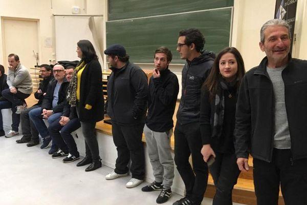 Réunion du collectif Demucrazia è rispettu pè u populu corsu lundi 12 février à l'université de Corte.