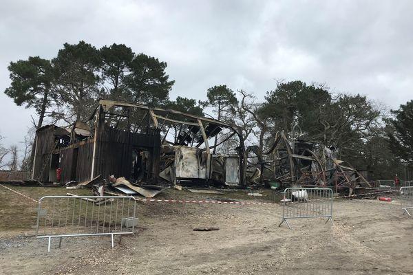 Les dégâts sont considérables sur le site de cette entreprise Caviar de France. 14 mars 2021 -