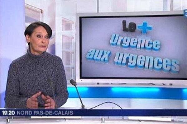 """Marie-Anne Babé sur le plateau du """"+"""" du 19/20 de France 3 Nord Pas-de-Calais."""