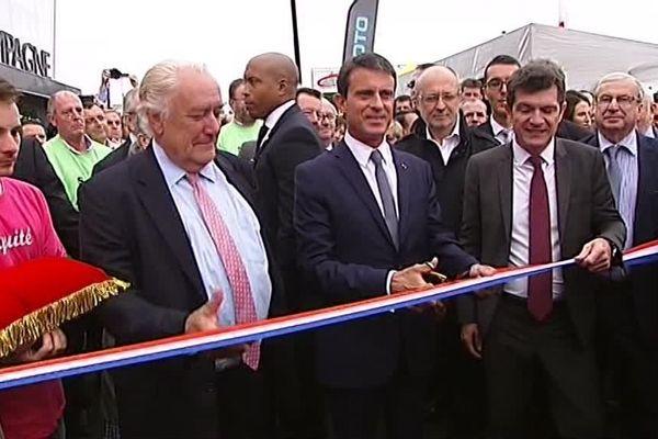 Manuel Valls inaugure la 69ème Foire de Châlons-en-Champagne.