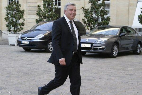 Le ministre délégué aux Transports Frédéric Cuvillier