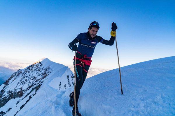 L' Espagnol a gravi le versant italien du mont Blanc en 6 heures et 35 minutes, un nouveau record