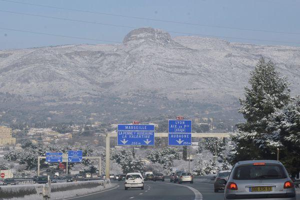 Episode de neige autour d'Aubagne en 2011.