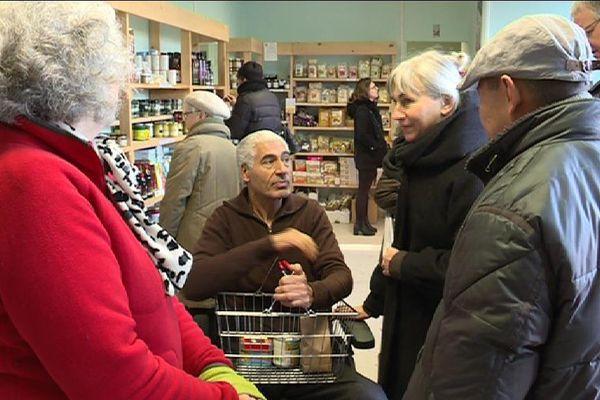 Une épicerie solidaire, à Saint-Denis, en Seine-Saint-Denis.