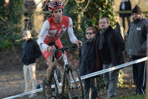 Le cycliste Romain Guyot lors d'une compétition le 29 décembre 2013.