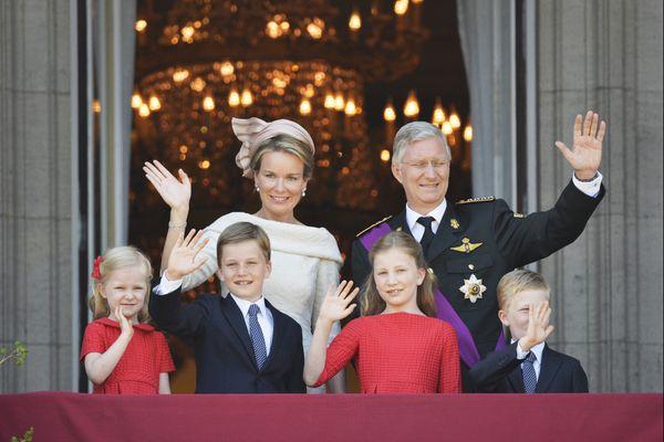 La famille royale de Belgique juste après le serment du roi dimanche dernier