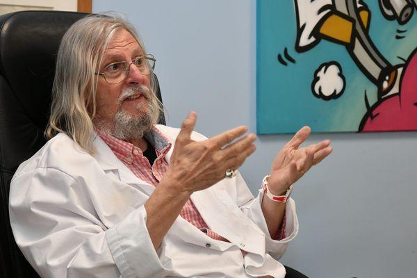 Le Pr Didier Raoult, directeur de l'IHU Méditerranée Infection, à Marseille