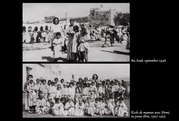 """Geneviève Mazet, dite """"Vivette"""", institutrice au Maroc dans les années 1940/1950 (photos issues de l'album de famille)"""