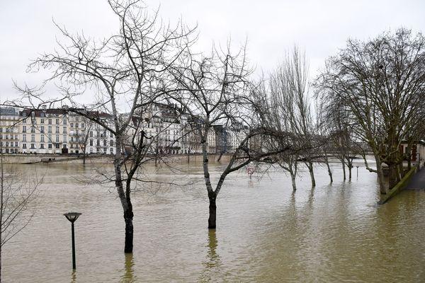 La Seine, à Paris, le 28 janvier 2018.
