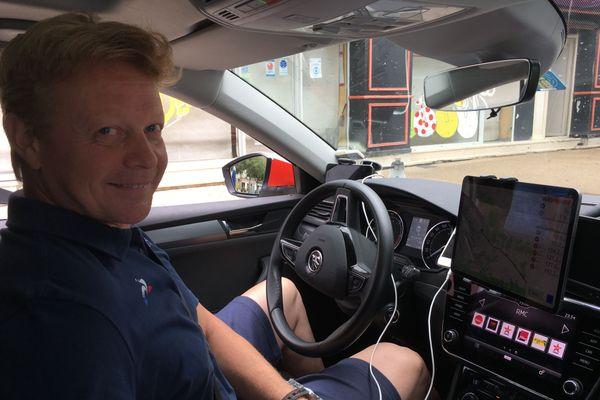 Philippe Mauduit en repérage pour le Tour de France