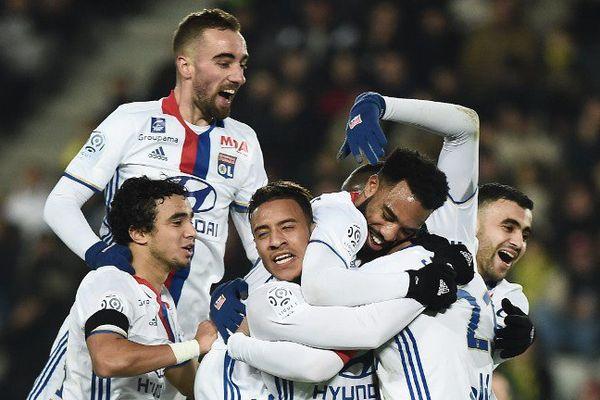 Les joueurs de Lyon avaient de quoi célébrer, à l'issue du match qui les opposait à Nantes.