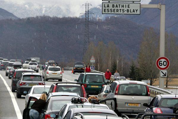 Photo d'illustration de bouchons à Chambéry.