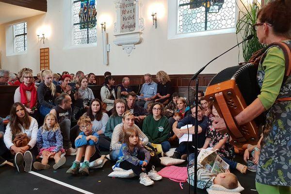 Une cérémonie d'adieu aux arbres était organisé ce dimanche 23 septembre à Kolbsheim