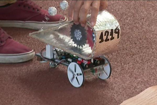 Un des robots du concours Cybertech de Besançon auquel participent 1500 collégiens